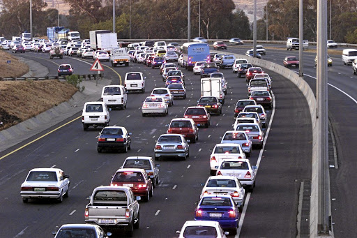The road to gloom: Roads, such as the busy M1 North towards Midrand, may have less spent on them. Picture: SUNDAY TIMES
