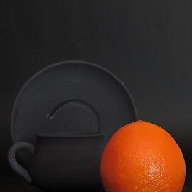 Orange01 by Louis Havenga - Food & Drink Fruits & Vegetables ( orange, table top )