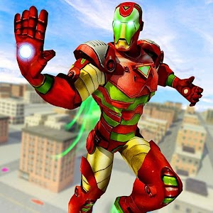 Flying Robot Superhero: Crime City Rescue For PC (Windows & MAC)