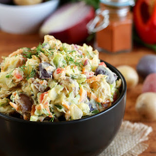 Vegan Rainbow Potato Salad