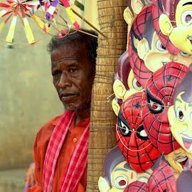 Mask Seller by Girish Pillai - People Street & Candids