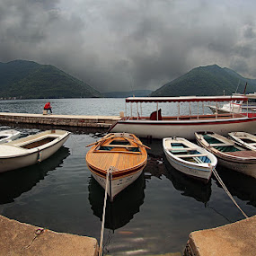parking by Branislav Rupar - Landscapes Waterscapes ( harbor, sea, boat, olympus    hdr    montenegro   perast )