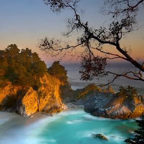 Mc Way Falls by Dustin Penman - Landscapes Beaches