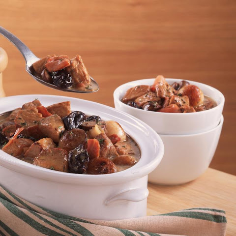 Pork and Bacon Casserole with Prunes