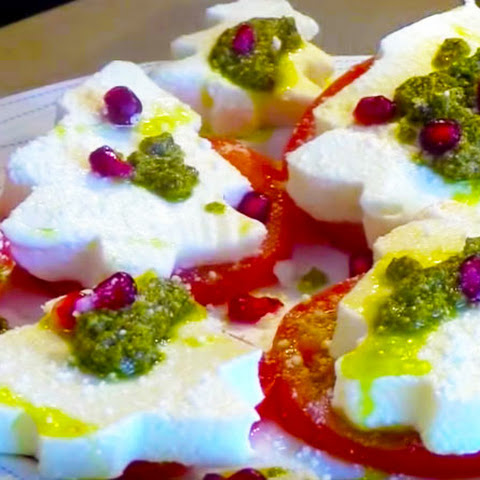 Christmas Shaped Mozzarella Salad