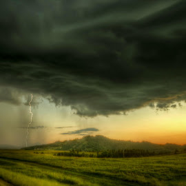 In the Rain by Michele Richter - Landscapes Cloud Formations ( clouds, hdr )