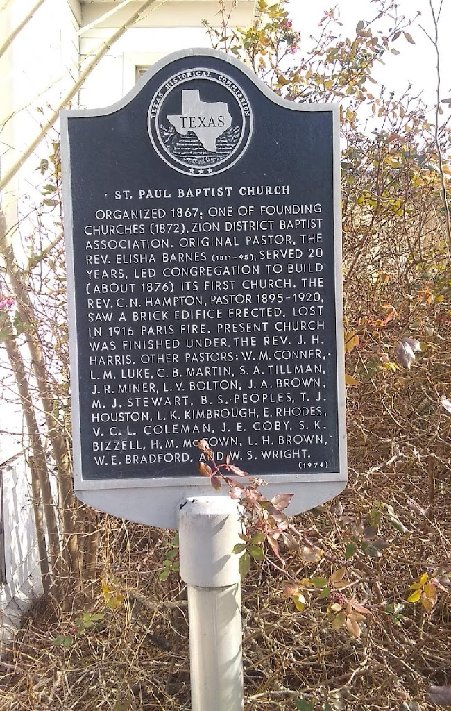 Organized 1867; one of founding churches (1872), Zion District Baptist Association. Original pastor, the Rev. Elisha Barnes (1811-95), served 20 years, led congregation to build (about 1876) its ...
