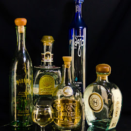 Dressed or straight up? by Carole Merz - Food & Drink Alcohol & Drinks ( lighting, tequila, glass, bottles, shot,  )