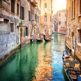 Venice Life by Nermin Smajić - City,  Street & Park  Historic Districts ( water, adriatic, old, gondola, vintage, venice, travel, boat, italy, canal, historic )