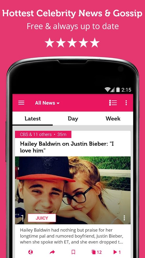 Celebrity News & Hot Gossip Screenshot
