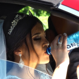 .... It was a hot day... by Stanley P. - Wedding Bride & Groom