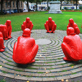 Zen Moment by Sandy Darnstaedt - City,  Street & Park  City Parks (  )
