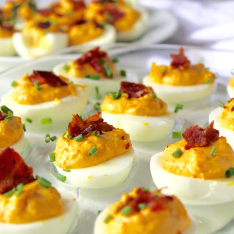 Pimento Bacon Deviled Eggs