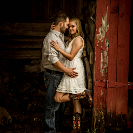 Engagement at the Farm by Matthew Chambers - People Couples ( georgetown, austin, engagement session, texas, engagements, beautiful, white, engagement photographer, white dress, matthew chambers photography, beauty, couples, country, farm, farmer, engagement photography, old settlers park, boots )