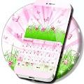 Pink Nature Keyboard APK for Bluestacks