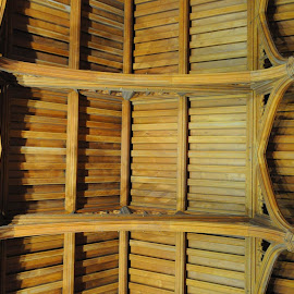 King's Hall Ceiling by DJ Cockburn - Buildings & Architecture Other Interior ( english heritage, timber, state rooms, northumberland, king's hall, teak, roof, england, false hammer beam, ceiling, victorian, historical, mediaeval, bamburgh castle )