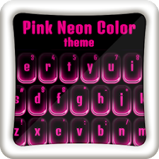 Go Keyboard Pink Neon Color