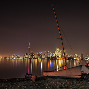 Sailing In Toronto by William Ducklow - City,  Street & Park  Skylines ( toronto, toronto island, toronto ontario )