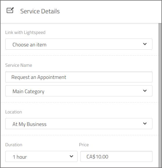 services details lightspeed