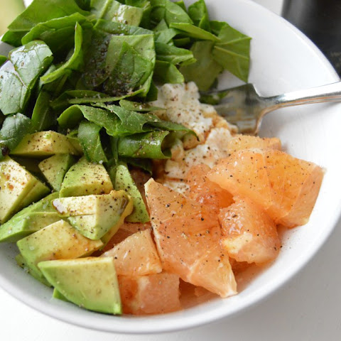 Grapefruit Avocado Cottage Cheese Snack