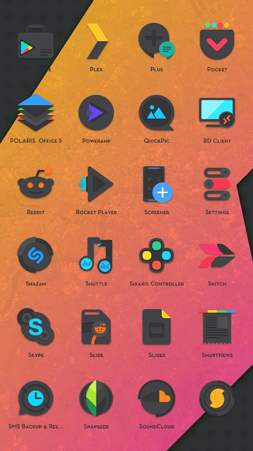 Crispy Dark - Icon Pack(SALE!) Screenshot 4