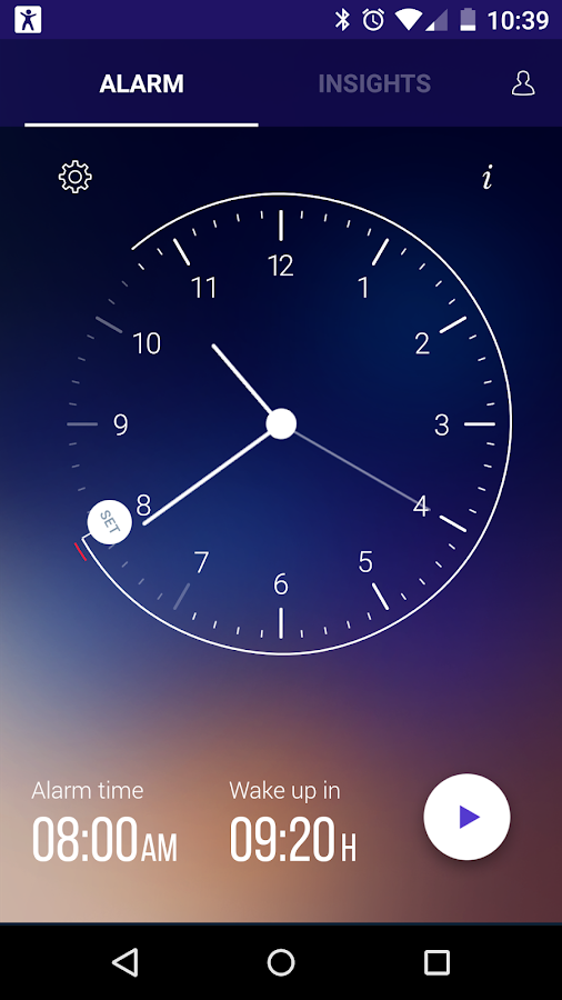 Sleep Time Smart Alarm Clock Screenshot 0