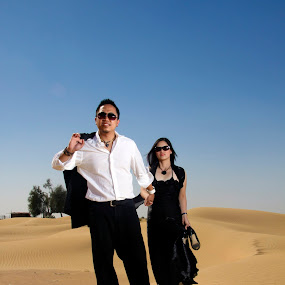 Desert Love by Charles Liban Jr - People Couples