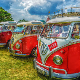 Split Screens by Richard Simpson - Transportation Automobiles ( split screen, vw, camper, vw campers, campers, splits screens )