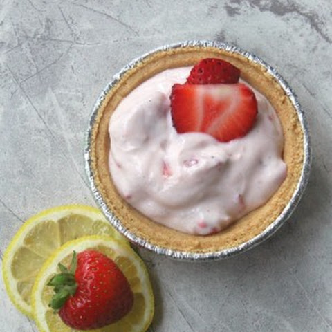 No-Bake Miniature Tangy Strawberry Pies