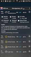 Screenshot of WSFA Doppler 12 Storm Vision