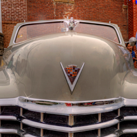 V by Darin Williams - Transportation Automobiles ( flying, hood ornament, grill, cadillac, chrome, v8,  )