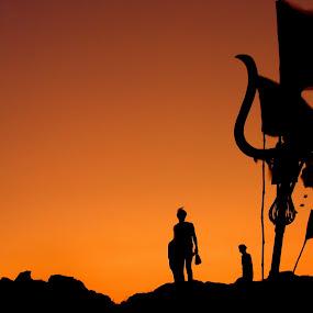 a holy sunrise by Saptarshi Mandal - Landscapes Sunsets & Sunrises ( hill, nature, holy, sunrise, travel, place, religious )