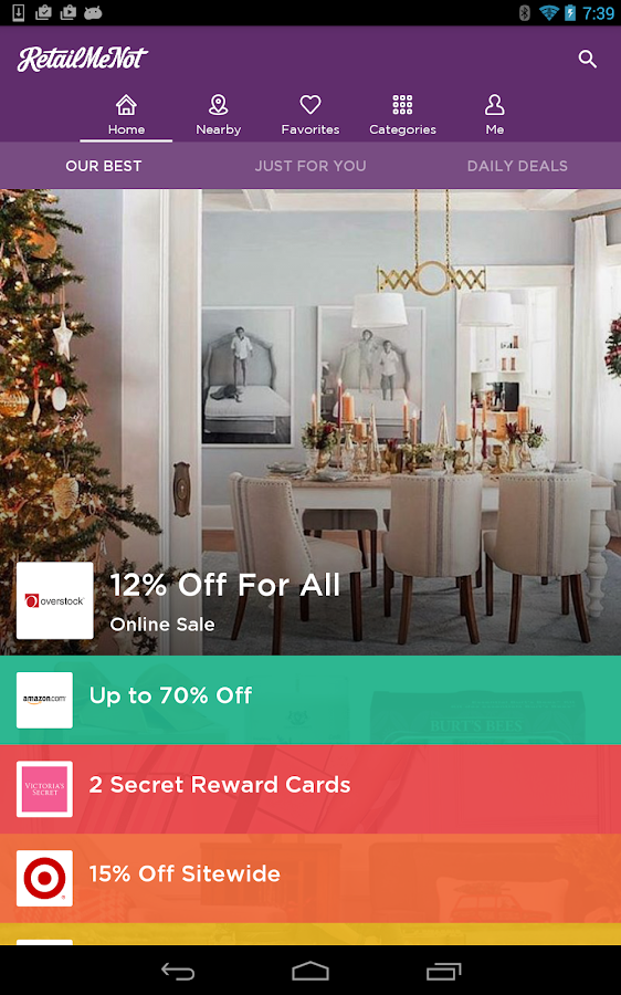 RetailMeNot Coupons, Discounts Screenshot 11