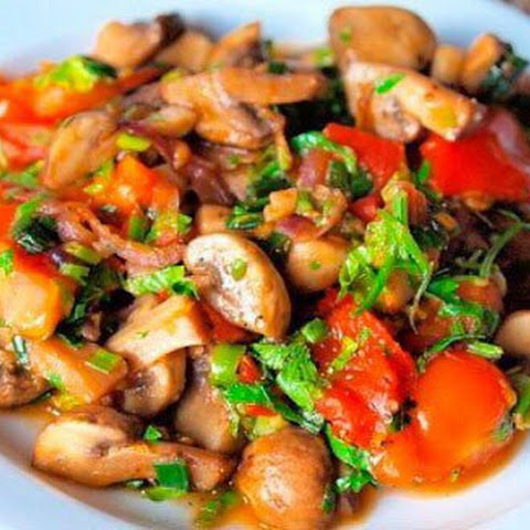 Weight loss. Mushroom stew for easy dinner