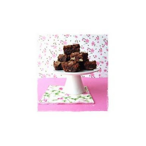 Chocolate Brownie With Walnuts And Cherries