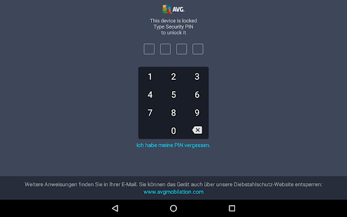 AVG AntiVirus FREE für Tablet Screenshot