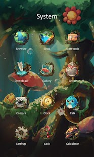 Forest Theme - ZERO Launcher - screenshot