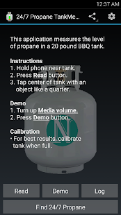 24/7 Propane TankMeter Demo - screenshot