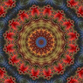 Fractal kaleidoscope, mandala 6 by Cassy 67 - Illustration Abstract & Patterns ( digital, love, harmony, art, abstract art, mandala, abstract, fractals, digital art, kaleidoscope, modern, light, fractal, energy )