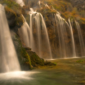 Autumn by Gordana Kvajo - Nature Up Close Water ( croatia plitvice lakes )