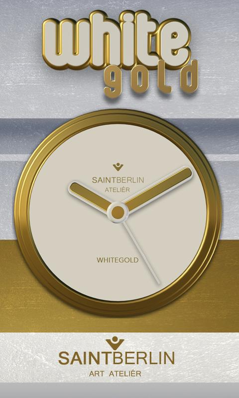 White Gold Clock Widget Screenshot 0