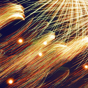 Anatomy of Fireworks by Karen Santilli - Abstract Fine Art ( lights, abstract, neon, fireworks, 4th of july, night, celebration, fire )