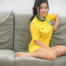 a Yellow WinNee by Chua Christopher - People Portraits of Women