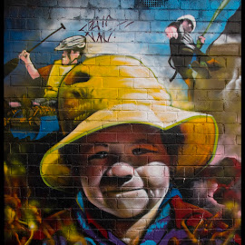 Yellow Hat by Mark Hundt - City,  Street & Park  Street Scenes