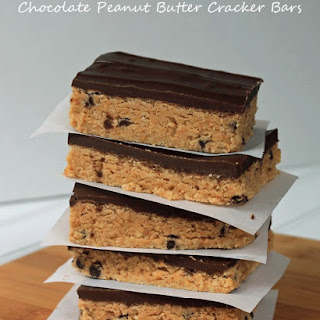 Chocolate Peanut Butter Cracker Bars