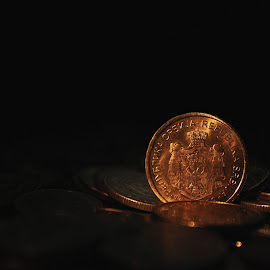by Nikola Prvulovic - Artistic Objects Other Objects ( old, vintage, copper, coin, art, economy, money art, object, circle, business, coins, metal, serbia, money, light )