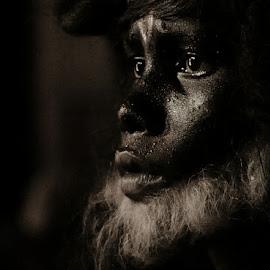 primitive by Raj Kumar Roy - People Portraits of Men ( nature, black and white, nikon d, natural, people, portrait,  )