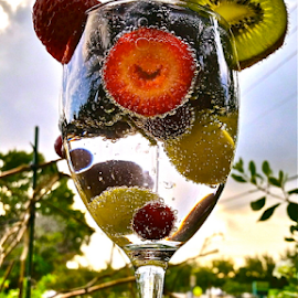 { Southern Fruit Smiles ~ 23 July }  by Jeffrey Lee - Artistic Objects Other Objects ( { florida natural fruit drink ~ 23 july } )