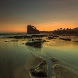 The Icon by Mulyadi AM - Landscapes Beaches ( icon, sunset, beach, rocks )