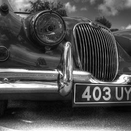 Jaguar by Andy Dow - Transportation Automobiles ( jaguar, b&w, hdr, mono, jag )